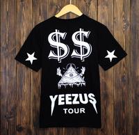 West coast kanye west yeezus tour yeezy 77 lovers short-sleeve o-neck T-shirt
