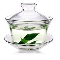 Large tureen teacup glass bowl glass cup kung fu tea accessories Gaiwan glass tea cup set tableware