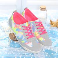 Gauze canvas shoes female 2014 new arrival breathable cutout women's network shoes gauze sport shoes women's shoes running shoes