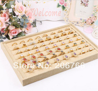 Free Shipping Ring Display Plate Stud Earring Rings Display Tray Jewelry Display Props Hemp Material Wholesale
