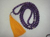 Natural crystal amethyst beads 108 fozhu rosary supplies