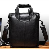 2014 New China Brand Fashion Men's Genuine Leather Business Shoulder / Messenger Bags Quality Cowhide Handbag Briefcase For Men
