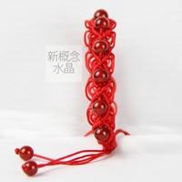 Natural crystal red agate aventurine jade garnet red string male Women bracelet