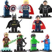 New 9 PCS Minifigures Super Heroes & Avengers Series Blocks Building Toys, Gift Set for Kids Hot Sale