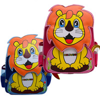 Double-shoulder baby school bag cartoon bag child canvas backpack