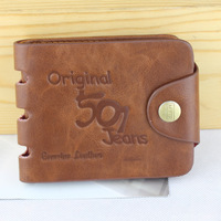 The new hit 2014 leisure wallet Men's leather brand short a wallet Archaize bag wallet bag mail