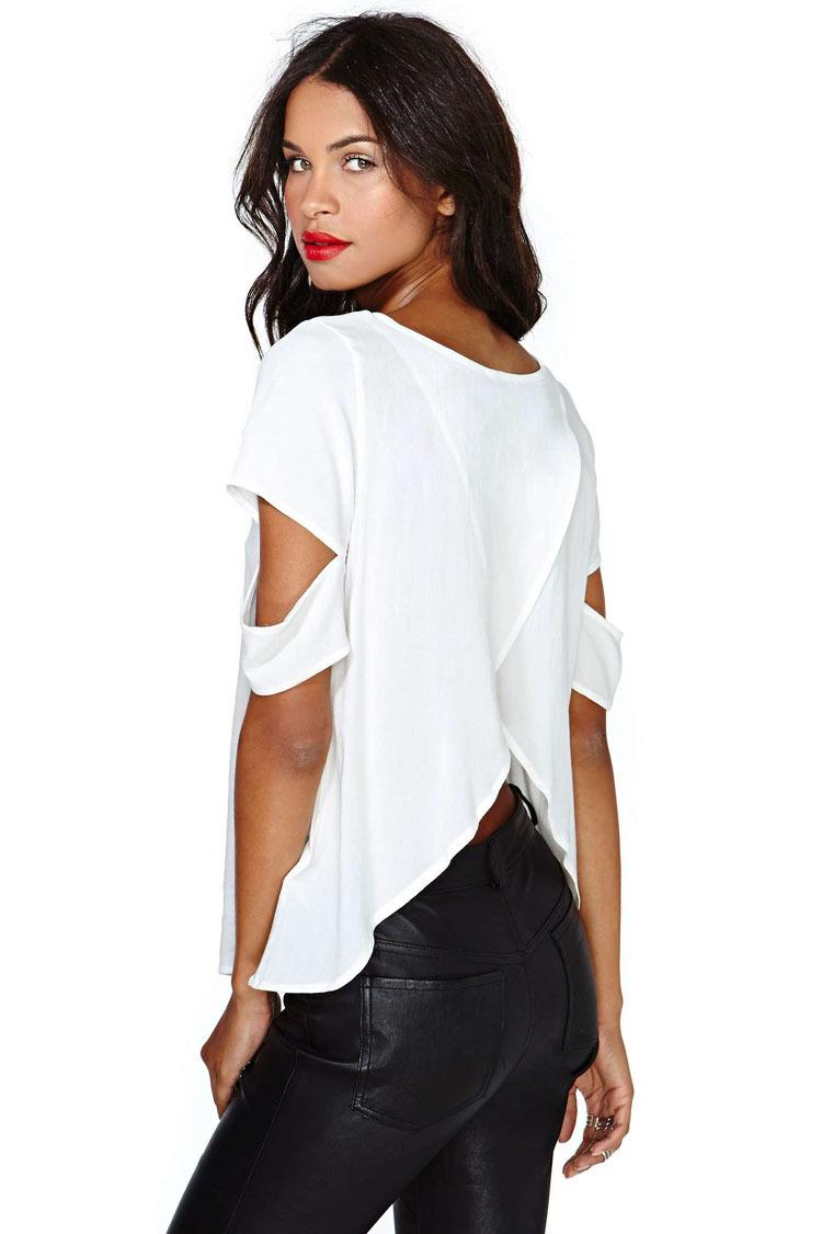 Wonderful Size Sheer Blouses Short Sleeve Blusas Chiffon Shirts Big Size Women