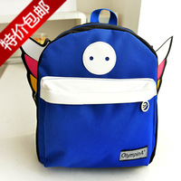 Personalized 2014 child backpack kindergarten school bag baby canvas backpack