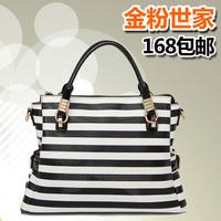 2014 winter the trend of fashion zebra print women's handbag laptop messenger bag