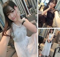 Octopussy 2014 sweet elegant one-piece dress lace chiffon one-piece dress full dress