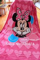 Genuine Minnie Mouse Children Cartoon Plush Blanket Super Soft Coral Fleece Fabric Blanket