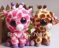 "IN HAND!  1pair Ty beanies Boo Cute Big eyes Animal ~Safari Twigs the Giraffe ~~Plush doll 6"" 15cm Stuffed TOY BEST GIFT"