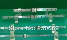 HIWIN Free Shipping Kossel Mini MGN12 12mm miniature linear rail slide =3pcs 12mmL-400mm rail+3pcs MGN12H /C carriage for X Y Z