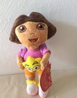 "Free shipping 1pcs 25cm=9.8"" Dora the Explorer Plush toys Doll,Hold Star Dora plush toys For kids gift"