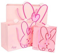 Free shipping Wholesale 60pcs/lot  MIDDLE 22*17*10CM Rabbit Paper Material Gift Packaging Bag