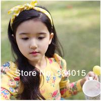 Min Order 10pcs/lot New Fascinator Cute Baby Girls Cotton Rabbit Ear Hairbands AccessoriesSpring headbands  XL74