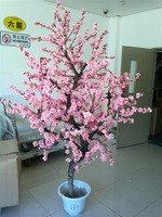 Artificial peach tree fake tree artificial tree artificial flower dried plants decoration flower peach blossom