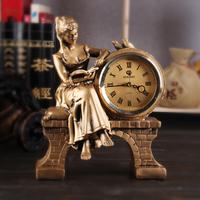 For dec  oration resin clock living room decoration vintage fashion mute clock home