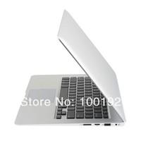 Ultra Thin 13.3 Inch  Laptop Notebook Full Aluminium Metal Case Intel Celeron 1037U Dual-core CPU 2G RAM 64G SSD Freeshipping