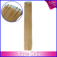 Easy to wear #27 Strawberry Blonde straight malaysian virgin hair skin weft tape hair extensions 20piece/pack 40piece/pack 100g