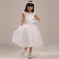 Quality female child dress child flower girl formal dress quality birthday female flower girl dress medium-long