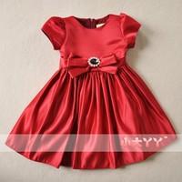Wire smoothens noble child princess dress flower girl formal dress 2014 female child spring short-sleeve dress