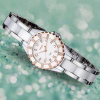 Ceramic watch women's watch rhinestone waterproof quartz watch