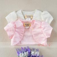 2014 spring short-sleeve beads child coat princess shrug small cape child children's clothing
