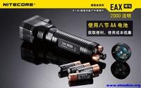 Nitecore outdoor flashlight eax 8 aa battery 2000 l2 high brightness led