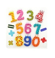 X mas Gift 15 Number Wooden Fridge Magnet Education Learning Cute Kid Toy souvenir fridge magnet fridge magnet 3d  Free Shipping