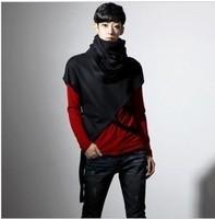 2014 non-mainstream men's clothing long-sleeve shirt bat loose batwing t-shirt