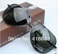 The new men's sunglasses polarizer yurt classic gentleman driver mirror sunglasses authentic coating  oculos brand