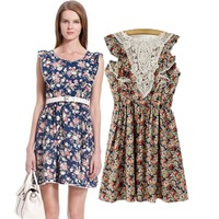 Women's 0311 spring fashion 2014 ruffle sleeve one-piece dress