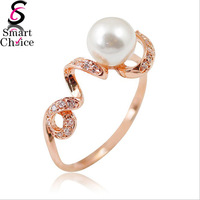 Italy's Distinctive Spirals Ring,18K Rose Gold pearl Material,Classic Modern Screw Collar Design,Perfect For Your Wedding Rings