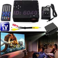 NEW LZ-H100 HDTV version Digital Video Projectors 100 Lumens HDMI AV/VGA/SD/USB/ HDTV Projector Multimedia Player Home Theater