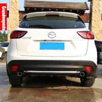 Car Rear Bumper Protector trunk Lid Down trim Cover Diffuser Spoiler For Mazda CX-5 CX5 12-14 --present Free Shipping