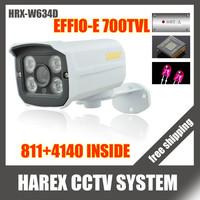 "1/3""Sony Effio-e 700TVL 811 960H 4pcs Array IR LEDS outdoor/indoor waterproof Security CCTV Camera with bracket.Free shipping"