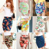 2014 women's all-match half-length skirt short basic vintage slim hip skirt step