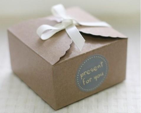 Wholesale Snak Box, Small Kraft Gift Box, Party box,Mini kraft paper cake box 50pcs/lot(Hong Kong)