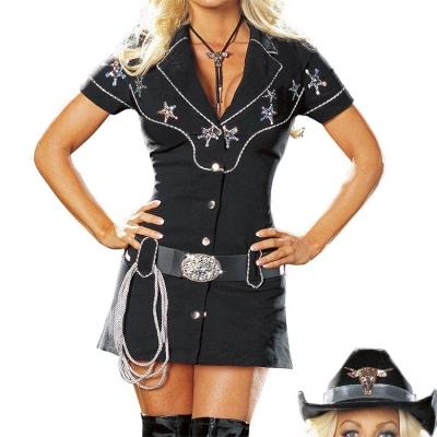 Party Sheriff envío de las señoras Sexy Gunslingin Vaquera Wild West