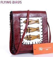 FLYING BIRDS! 2014 !women pu leather handbag Mini packet diagonal package shoulder bag new messenger bags women bag LS1453