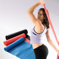 Tension with yoga stretch belt tension device elastic belt fitness stretch with belt roll latex