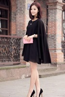 Cape type is prevented bask in big yards chiffon dress