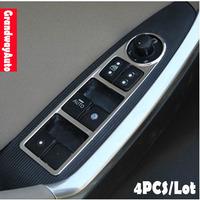 Car Interior 4 doors Door  handle Button Trim Window control panel Trim For Mazda CX-5 CX5 2012--present Free Shipping