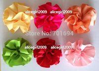 """new style girls hair bows grosgrain ribbon hairbows 3"""" ribbon hair flowers  hair accessories hair clips 100pcs/lot"""