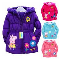 Frozen jacket Free shipping+ Retail!  2014 brand coat. Children's hoodies. Hooded fleece jacket. 100% cotton children outerwear.