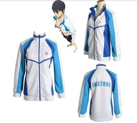 New Free Shipping Free! Iwatobi Swim Club Haruka Nanase School Sprot Coat/Jacket Cosplay Costume  Anime Products