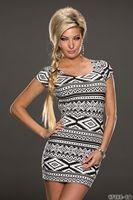 New Arrival Fashion Women's Geometric Printed Sexy Mini Summer Sheath Dress, Party Club Wear Bodycon N140