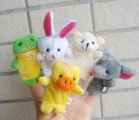 10x Cartoon Biological Animal Finger Puppet Plush Toys Child Baby Favor Dolls E2595