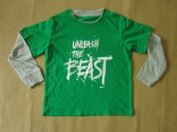 new 2013  children outerwear autumn -summer  boys  sweatshirt  kids clothes  boy's t shirt brand green